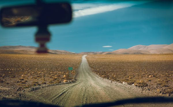 Driver view of the road ahead